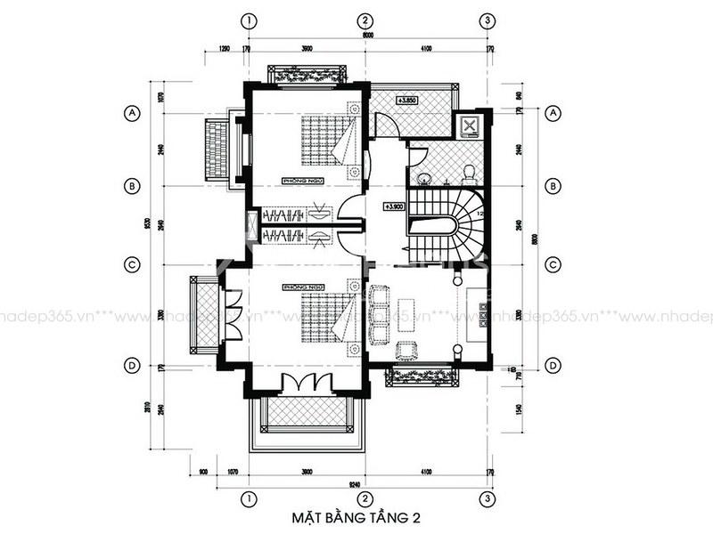 Tư vấn thiết kế biệt thự 2 tầng pháp cổ_2