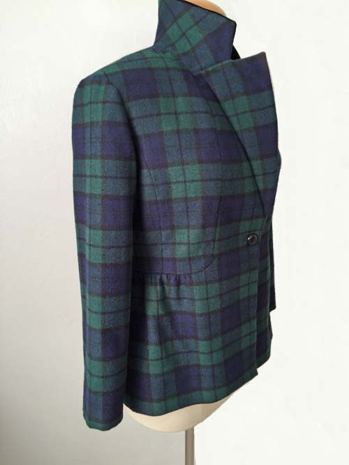 plaid jacket under lapel