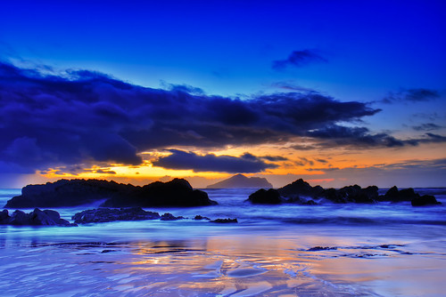 beach clouds sunrise taiwan ilan 台灣 宜蘭 toucheng 日出 倒影 頭城 外澳