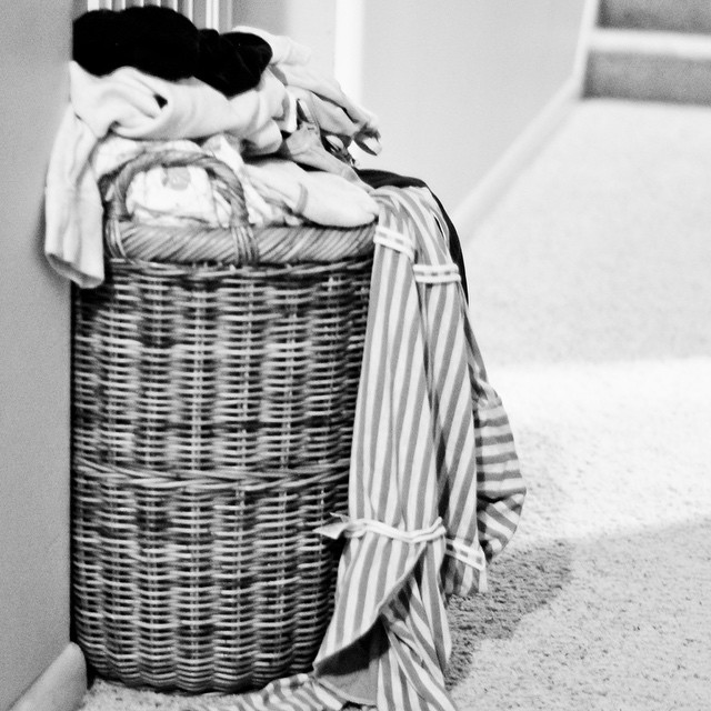 8:05 pm Gathering clothing so I can start the weekly laundry #adayinthelifephotochallenge