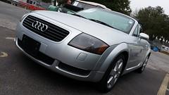family car(0.0), audi allroad(0.0), vehicle registration plate(0.0), automobile(1.0), automotive exterior(1.0), audi(1.0), executive car(1.0), wheel(1.0), vehicle(1.0), automotive design(1.0), rim(1.0), audi tt(1.0), bumper(1.0), land vehicle(1.0), luxury vehicle(1.0), coupã©(1.0), supercar(1.0), sports car(1.0),