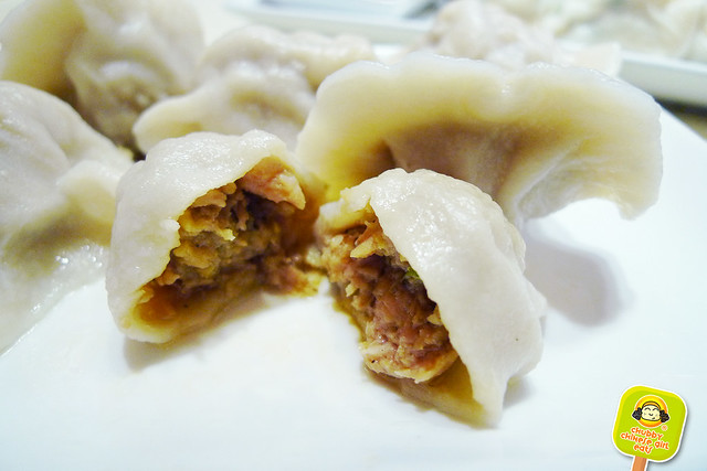 dumpling galaxy - duck meat with mushroom dumpling