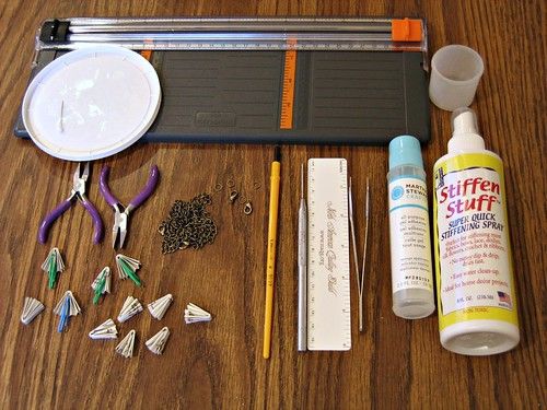 Folded Paper Necklace Supplies