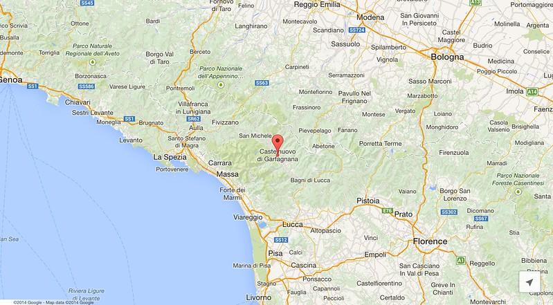 Garfagnana map