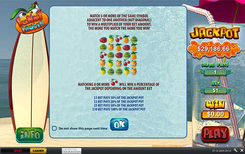 free Funky Fruits rules for progressive