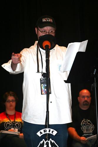 Jonathan Strickland addresses the microphone