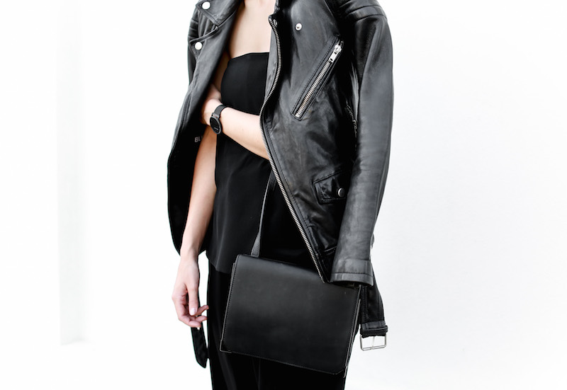 MODERN LEGACY fashion blog Australia all black minimalist street style Matches Fashion BLK DNM leather biker jacket (6 of 9)