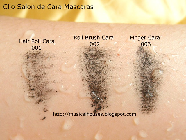 Clio Salon de Mascara Hair Roll Brush Finger Cara Water Test