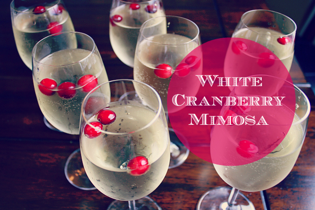 White Cranberry Mimosa Title