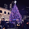 The Christmas Tree in the Bank of America Winter Village on Bryant Park wishes you a happy Friday!  The weekend is finally here! #Christmas #christmas2014 #christmastree #bryantpark #wintervillageinbryantpark #midtown #midtowneast #manhattan #mynyc #mynew