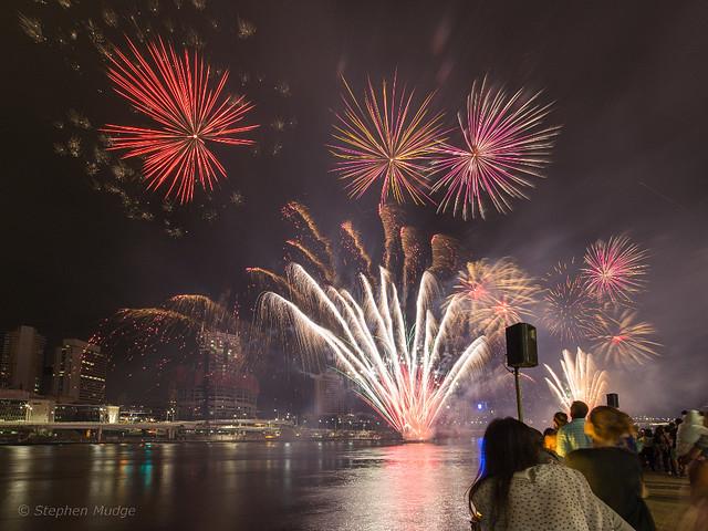 Southbank Christmas Fireworks 1