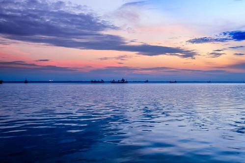 beach sunrise indonesia riau dumai