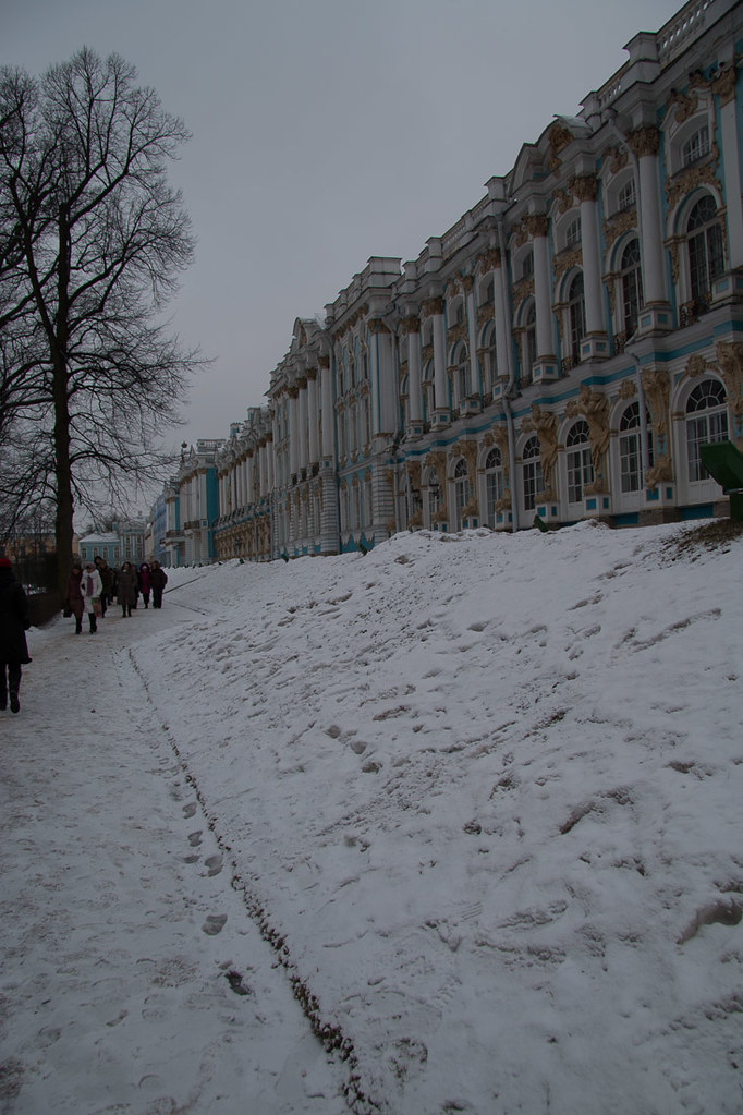 Outside Catherine Palace