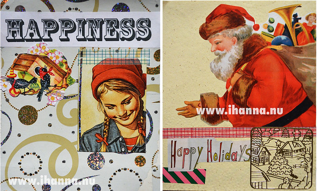 December Journal Pages: Happiness and Santa Claus