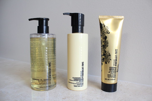 shu uemura art of hair cleansing oil shampoo and conditioner