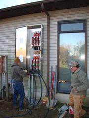 Backup generator junction panel installation completed at Prime Hook National Wildlife Refuge Visitor Center in Milton, Delaware. Credit: Oscar Reed/USFWS