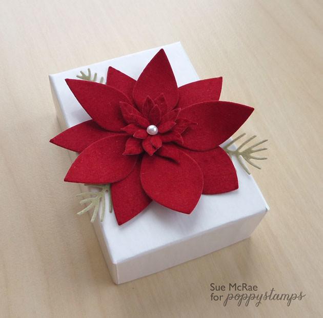 Velvet Poinsettia Box