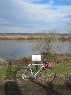 The born-again Trek at the Sauvie Island Road turnaround