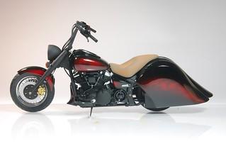 【玩具人蠍王投稿】Tamiya 1/12 Yamaha XV1600 RoadStar 3D列印零件改造分享