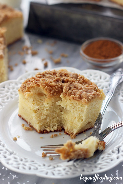 Eggnog Coffee Cake with a Brown Sugar Streusel