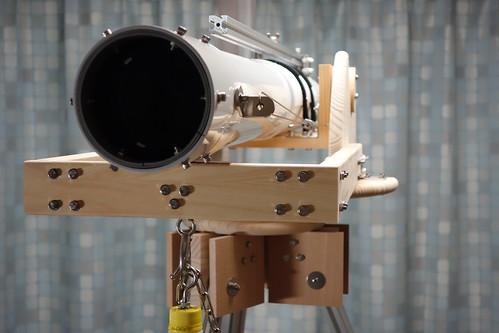 astronomical telescope_41 自作の天体望遠鏡の写真。対物レンズ側から撮影したもの。