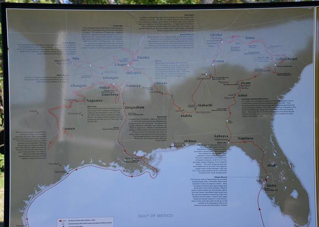 De Soto's route - 1539-1543