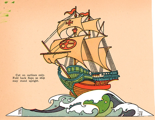 An Art Deco Sailing Ship