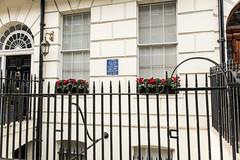 Photo of William Wilkie Collins blue plaque
