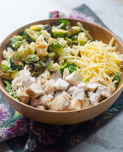 Roasted Winter Veggie Chopped Chicken Salad