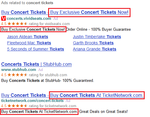 Yahoo & Bing ads showing duplicate copy