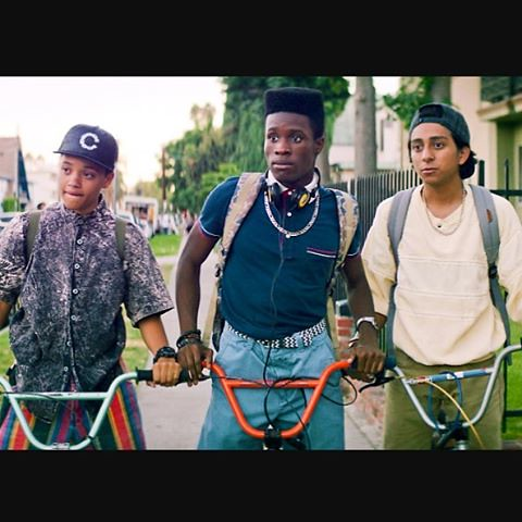 "Tonight we watched ""Dope"" (2015). Good movie, with an excellent 90s hip hop soundtrack (my fave)."