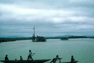 Navy Ships and Vietnamese Children, Cua Viet River, May 1967
