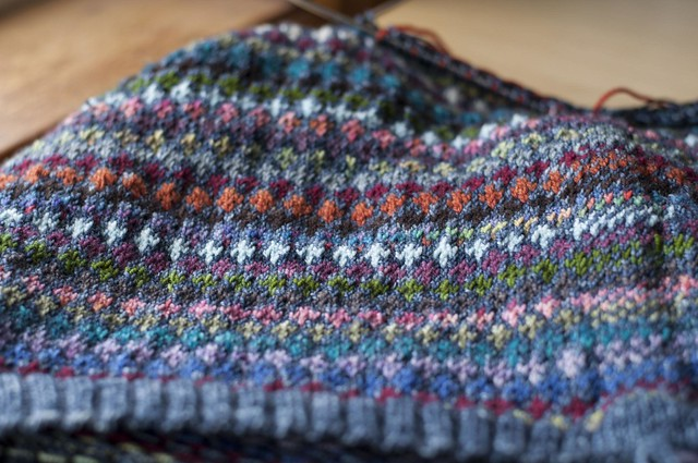 crazy colourwork sweater