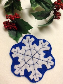 Embroidered Snowflake - Blue
