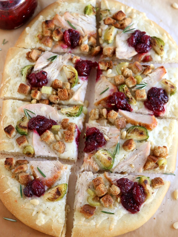 Thanksgiving Leftovers Pizza | completelydelicious.com