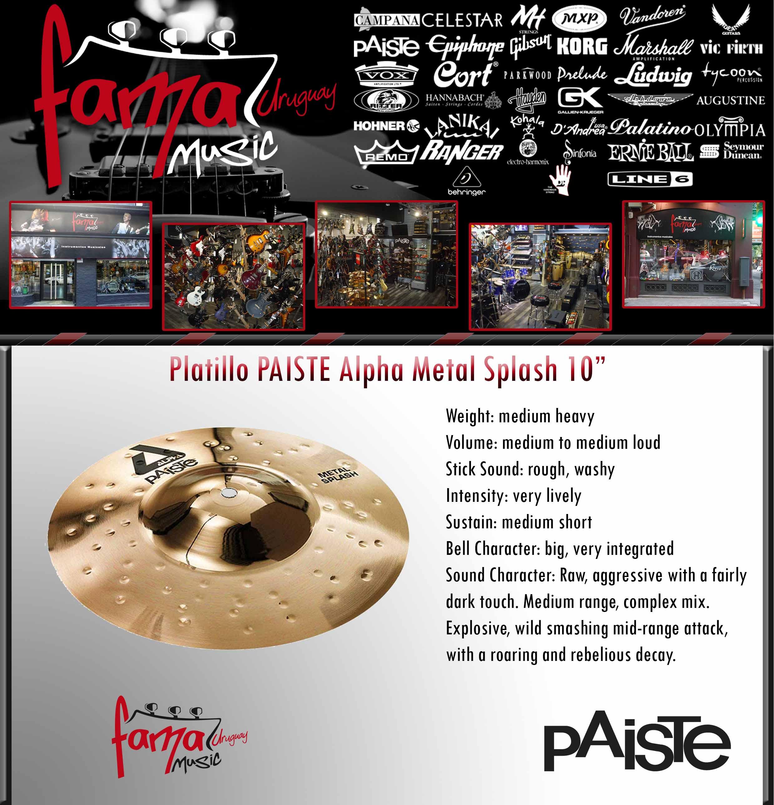 "Platillo PAISTE Alpha Metal Splash 10"""
