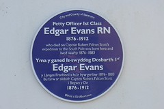 Photo of Edgar Evans blue plaque