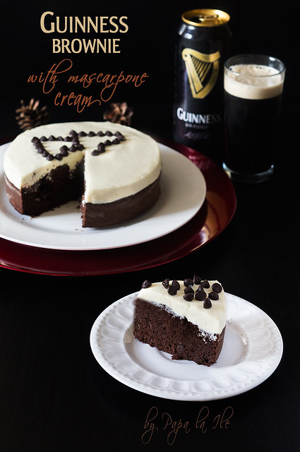Guinness brownie with mascarpone cream (1)