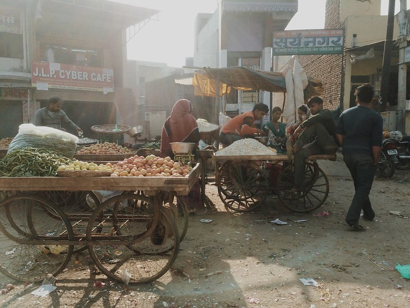 Agra morning vegetable market #vsco