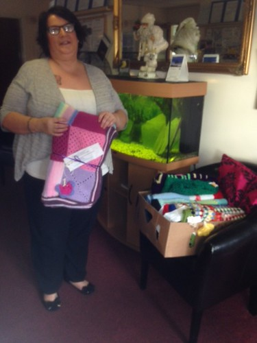 St. Michael's Care Home for the Elderly. Last delivery of the Year. 8 Sunshine Blankets. Thanks everyone!