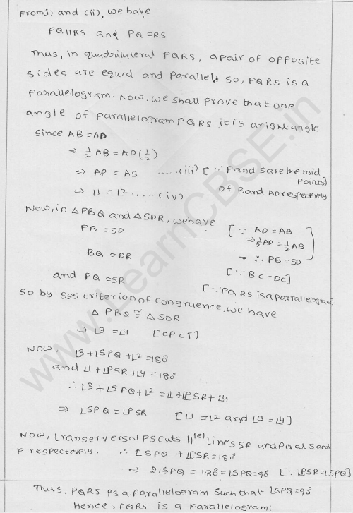 RD Sharma Class 9 Solutions Chapter 14 Quadrilaterals Ex 14.4 13