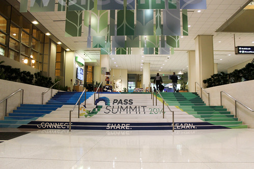 SQLPASS Summit 2014 stairs