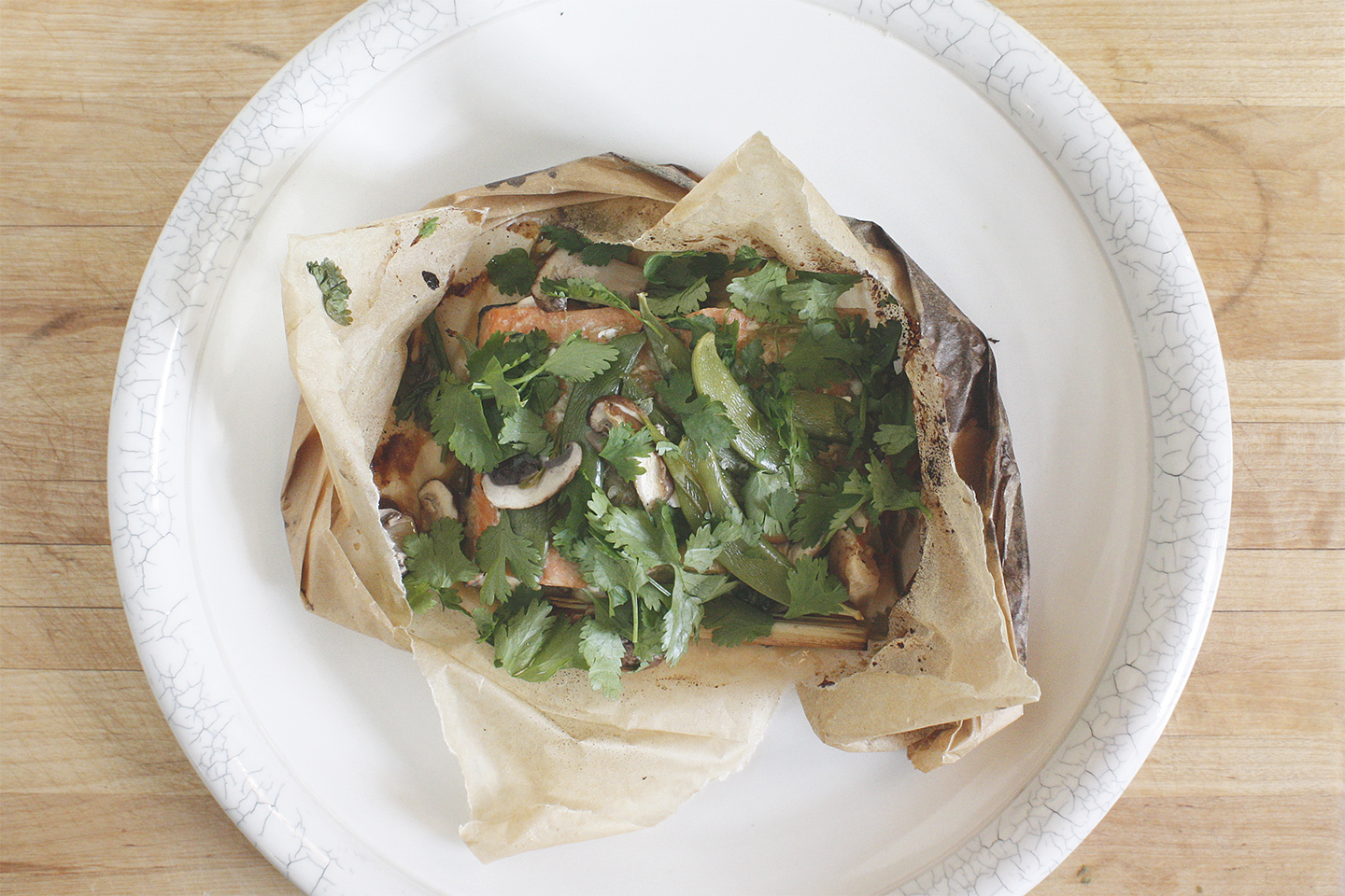 Steamed Thai Fish en Papillote