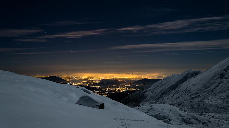 luci di Torino dal Lago Sottano