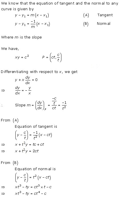 Free Online RD Sharma Class 12 Solutions Chapter 16 Tangents and Normals Ex 16.2 Q3-xii