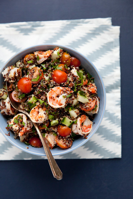 Quinoa Tabbouleh with Lemony Shrimp | Annie's Eats