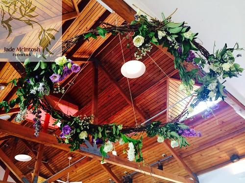 Hanging wedding flowers.