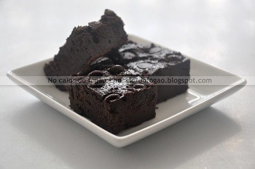Brownie com biomassa da banana verde