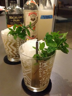 Mai Tai with Highland Park 12 scotch, lime juice, Pierre Ferrand dry curaçao, homemade coconut orgeat, simple syrup