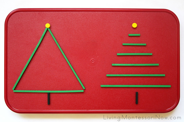 Stick and Dot Christmas Tree Layout